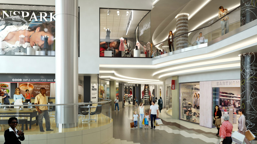 Interior Rendering - Rosebank Mall - 1 - MDS Architecture