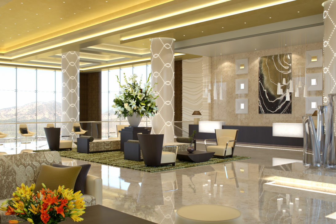 Interior Rendering - Hotel Reception - Chile