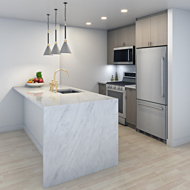 Interior Rendering - NYC Rental - Kitchen 2 - New York