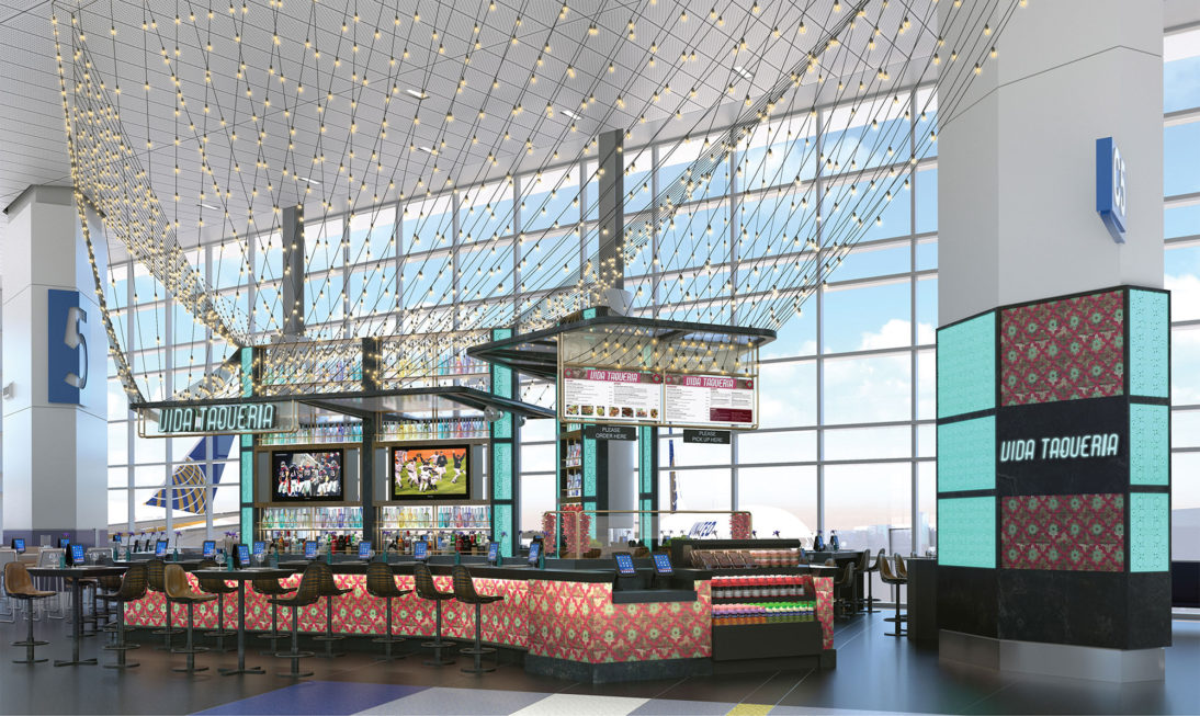 Interior Rendering - Restaurant Bar Oasis 1 - Airport - United States