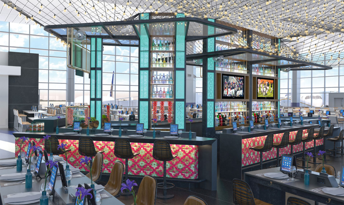 Interior Rendering - Restaurant Bar Oasis 2 - Airport - United States