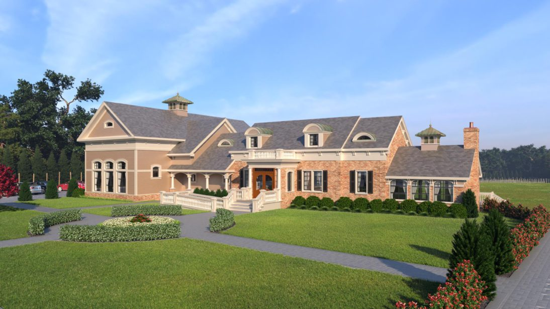 Exterior Rendering - Winery - 2 - Long Island New York